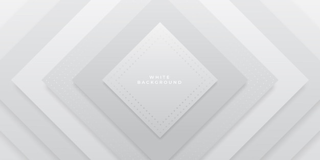 Abstract geometric white background design
