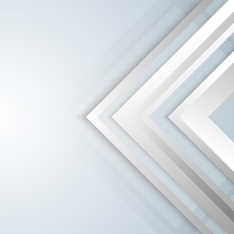 Abstract geometric white and gray arrow shine layer elements design background. technology concept.