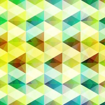 モザイクグリッドスタイルの図で明るい三角形とダイヤモンドの形をした抽象的な幾何学