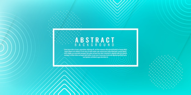 Abstract geometric with gradient background