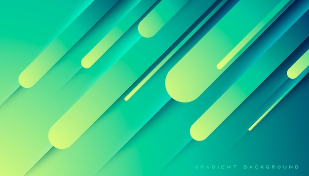 Abstract geometric yellow and tosca gradient background