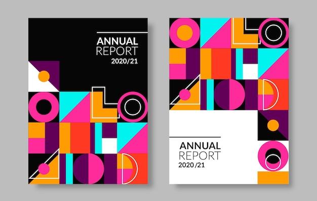 Абстрактные геометрические шаблоны годового отчета