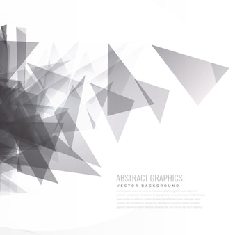 Abstract geometrical black and white triangle background