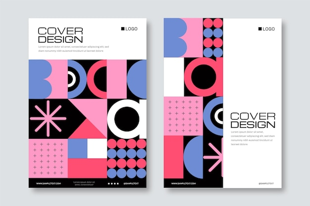 Abstract geometrical business cover collection