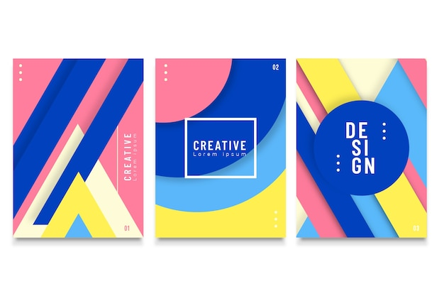 Abstract geometrical covers pack