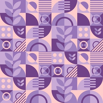紫と桃色の抽象的な幾何学的なグリッドパターンの背景。