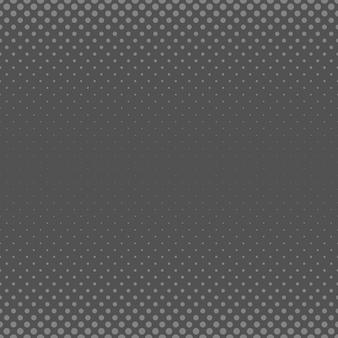 抽象的な幾何学的ハーフトーンサークルパターンの背景 - さまざまなサイズのドットからのベクトル図