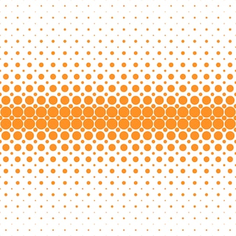 抽象的な幾何学的なハーフトーンドットパターンの背景 - 白い背景にオレンジ色の円からのベクトルグラフィック