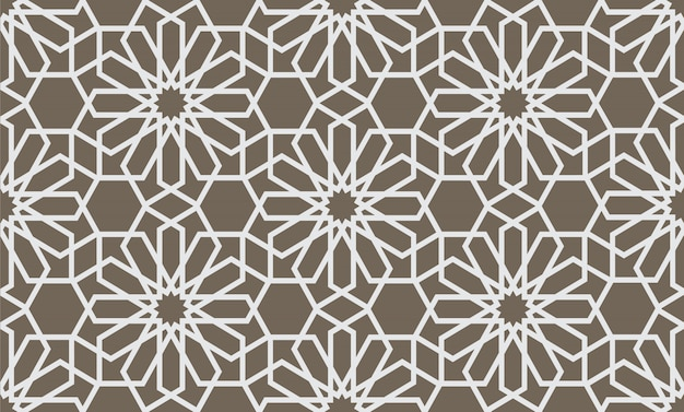 Abstract geometrical seamless pattern in arabian style