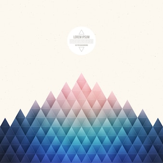 Abstract geometrical triangular vector background