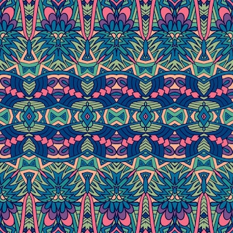 Abstract geometry colorful ethnic geometric psychedelic print design