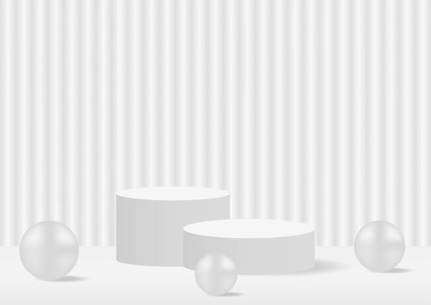 Абстрактная геометрия форма подиум белый пастельный стенд презентация продукта с минимальным стилем