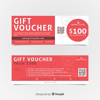 Abstract gift voucher banners