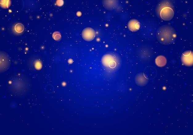 抽象的なキラキラデフォーカス点滅星と火花