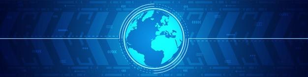 抽象グローバルテクノロジー、デジタル矢印の動きの背景