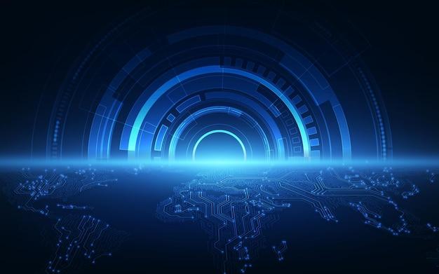 抽象グローバルテクノロジースピードコンセプト。