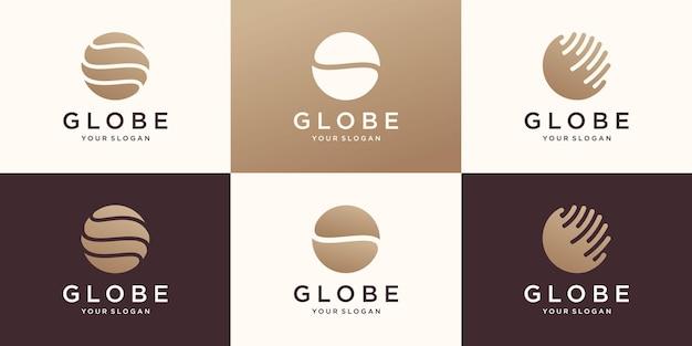 抽象的な地球ベクトルのロゴ。