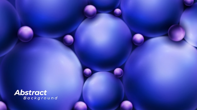 Abstract glossy 3d sphere background
