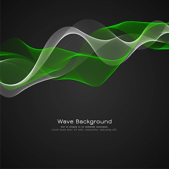 Abstract glossy green wave background design
