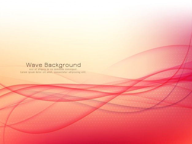 Abstract glossy red wave