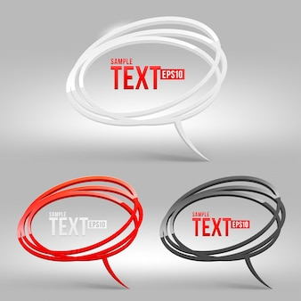Abstract glossy speech bubbles -   illustration set