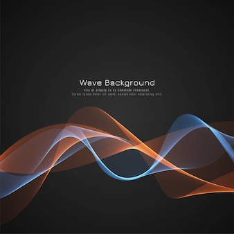 Abstract glossy wave dark background