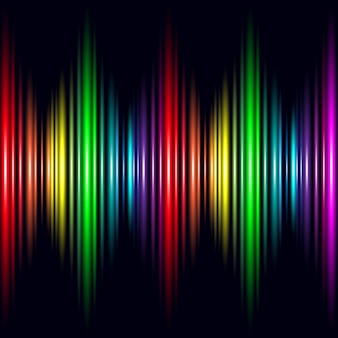 Abstract glow rainbow light effect vector background