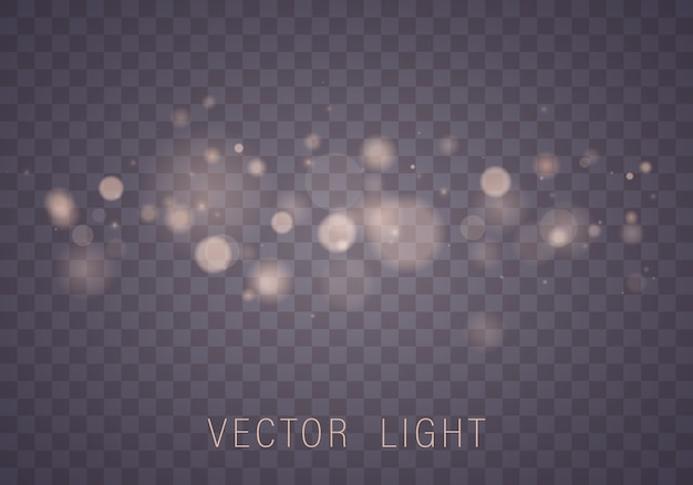 Abstract glowing bokeh lights effect isolated