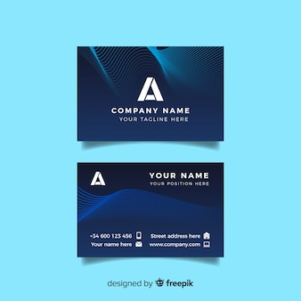 Abstract glowing business card template
