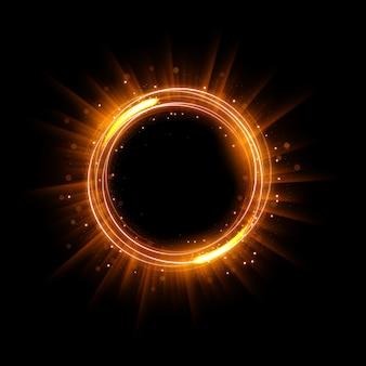 Abstract glowing circle elegant illuminated light ring