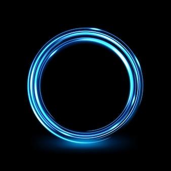 Abstract glowing circle elegant light ring