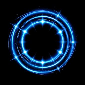 투명 한 배경, 절연 하 고 쉽게 편집 할 수있는 추상 빛나는 원. 프리미엄 벡터
