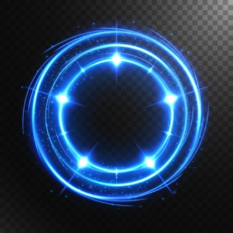 Abstract glowing circle with a transparent background, isolated and easy to edit.