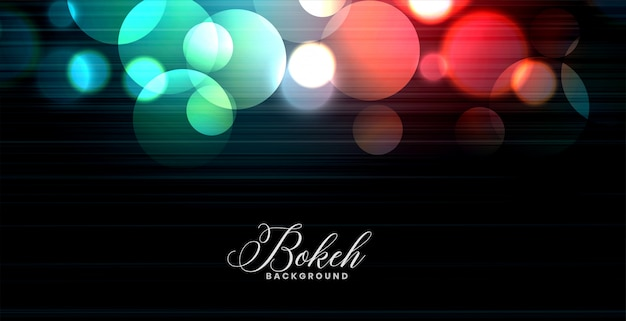 Abstract glowing colorful bokeh lights banner