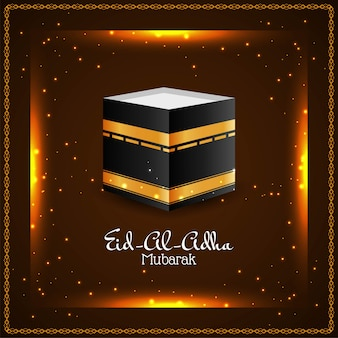 Abstract glowing eid al adha mubarak background