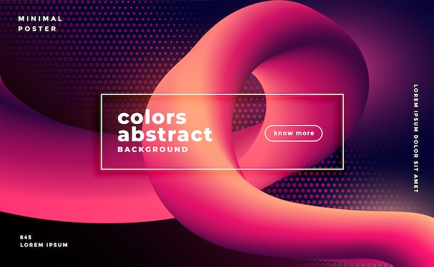 Abstract glowing fluid loop gradient background