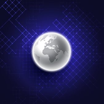 Abstract glowing globe design background
