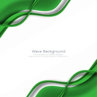 Abstract glowing green wave background