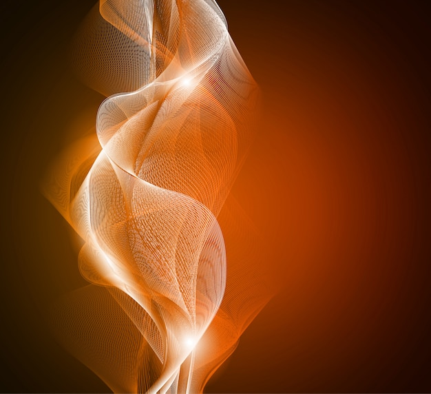 Abstract glowing light waves background