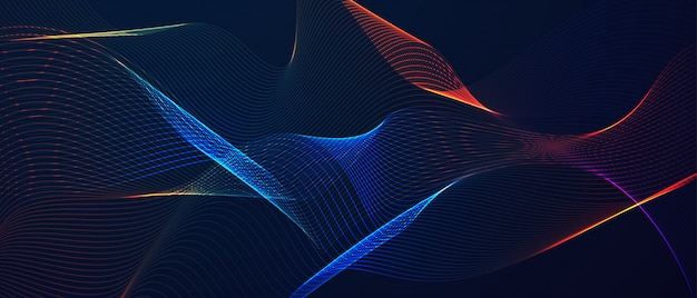 Abstract glowing lines background.