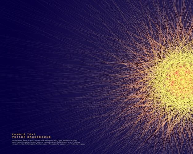 Abstract glowing lines forming a network of glowing sphere vector
