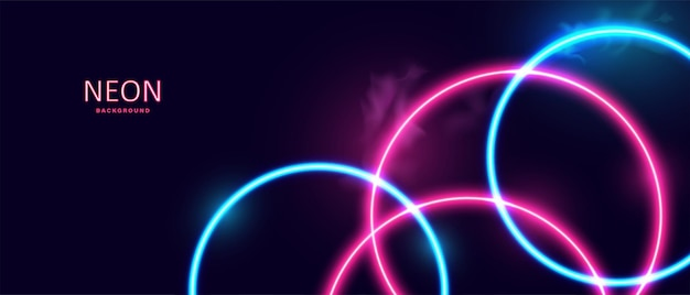 Abstract glowing neon lights background