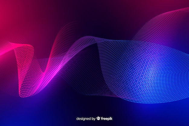 Abstract glowing particles background