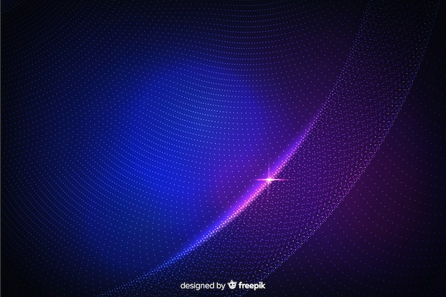 Abstract glowing particles models background