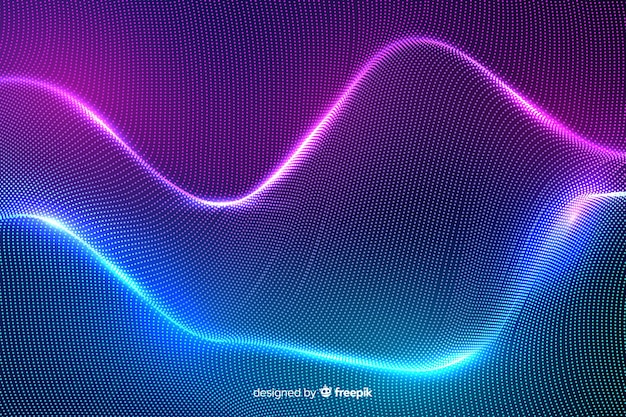 Abstract glowing particles shapes background