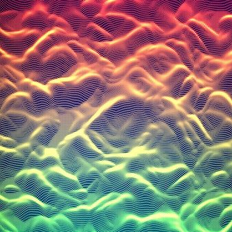 Abstract glowing point noise background.