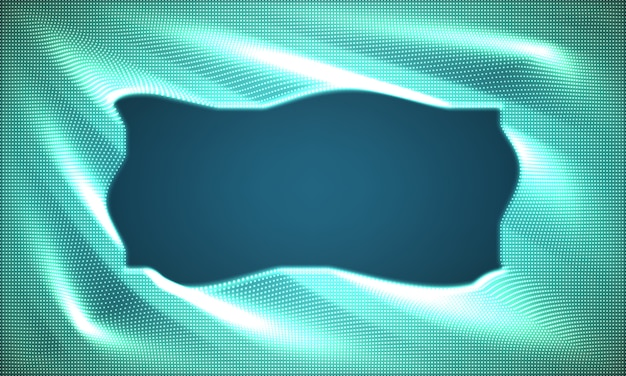 Abstract glowing point noise blue background.