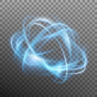 Абстрактное светящееся кольцо на прозрачном фоне.
