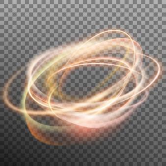 투명 한 backfround에 추상 빛나는 반지.