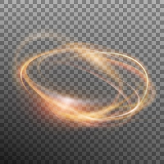 Abstract glowing ring. transparent background only in